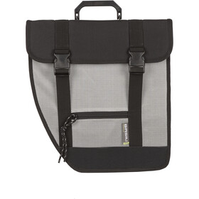 Basil Tour Left Single Pannier Bag 17l, black/silver